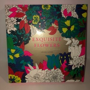 Exquisite flowers on metallic paper coloring book